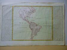 Carte de l' Amérique par Clouet en 1769