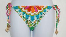 Trina Turk Tamarindo Tie Side Hipster Bikini Bottom Sz 6 Swimwear Multi (K23)