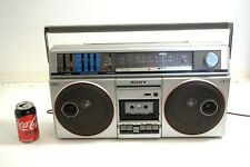 HUGE VINTAGE SONY CFS-500 AM FM STEREO RADIO CASSETTE BOOMBOX WORKS WITH ISSUES