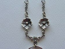 FLOWERS STAINLESS STEEL SOLDERED CHAIN LANYARD ID BADGE HOLDER NECKLACE
