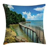 Tropical Landscape Throw Pillow Cases Cushion Covers Home Decor 8 Sizes