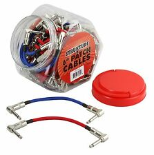 "Strukture 6"" Woven Right Angle Patch Cables Red/Blue"