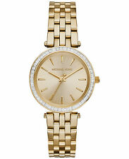 NEW MICHAEL KORS MK3365 LADIES GOLD MINI DARCI WATCH - 2 YEAR WARRANTY