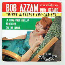 "Bob AZZAM & Miny GERARD 45T EP 7"" HAPPY BIRTHDAY - ABUGLUBU - FESTIVAL 2139 RARE"