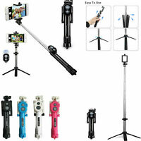 Bluetooth Selfie Stick Tripod Remote Extendable Monopod For iPhone 8 Sa X 7 S8K1