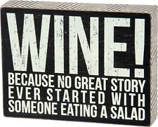 883504251457  Wine No Great Story Starting with Eating a Salad