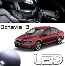Skoda OCTAVIA 3 - 11 Light bulbs White LED lighting Ceiling Floor carpet Trunk