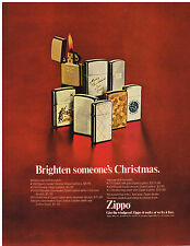 Vintage 1969 Magazine Ad Zippo Lighter Works Or We Fix Free / Polaroid Colorpack