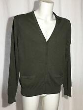 Men's HERRLICHER Cashmere+ Cotton Cardigan Dark Olive Medium M