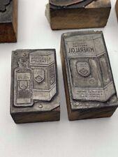 2 Vintage Printing Letterpress Printers Blockswoodadvertising Aspirin Mineral