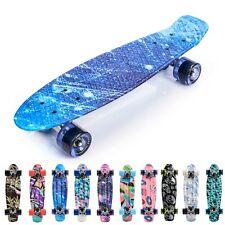 Skateboard Kinder Mini Cruiser Kickboard Rollen Board Retro Kinder ab 5 Jahre