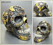 Mechanische Roboter Gothic Totenkopf Skelett Kopf Skulptur Figur Halloween Dekor