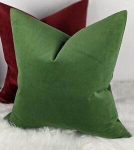 """Designer Green Velvet 20"""" Cushion Cover Fabric High Quality"""