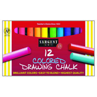 Sargent Art Colored Drawing Chalk, 12 Count