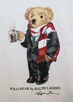 Polo Ralph Lauren Big & Tall Mens White Hot Cocoa Polo Bear T-Shirt NWT 4XLT