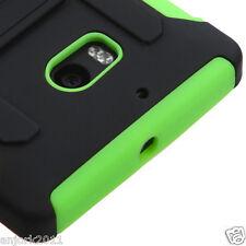 Nokia Lumia 929 Icon Hybrid C Armor Case w/Stand Skin Cover Black Green