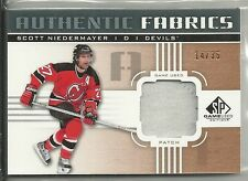2011-12 SP Game Used - SCOTT NIEDERMAYER - Game Used Jersey Patch - DEVILS #d/35