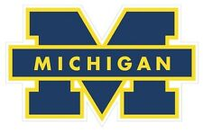(2) Pair University Of Michigan Wolverine Decals/stickers Chose Color 9x14