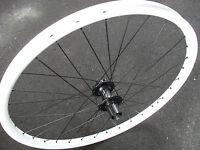 "Halo FREEDOM Rear Wheel (26"") Shimano Disc Hub WHITE Mountain Bike 8 9 10 speed"