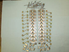 """20 STEEL7/16"""".500""""1/4 Quick Turn Dzus Fasteners Dome Head Buttons&PLATE,SPRINGS"""