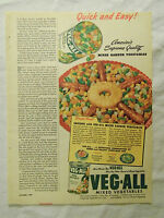 1949 Magazine Advertisement Page Veg-All Canned Mixed Vegetables Food Vintage Ad