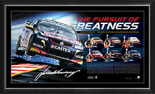 Jamie Whincup Signed The Pursuit of Greatness V8 Supercars Champion Print Framed