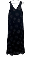 David Lawrence Womens Black Floral Sleeveless Lined Maxi Dress Size 14