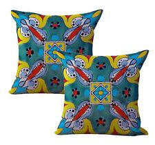 Us Seller-2pcs Mexican Spanish talavera cushion cover wholesale decorative throw
