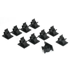 Lots 10x Cable Clips Adhesive Cord Management Black Wire Holder Organizer Clamp