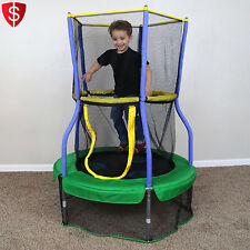 Kids Indoor Trampoline Mini Bouncer Enclosure Safety Children Play Fun Exercise