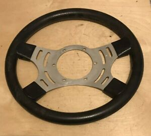 "Classic 13"" Rubber Mountney Steering Wheel, Mini Ford Escort VW Buggy kit Car"