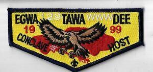 OA Egwa Tawa Dee Lodge 129 1999 Conclave Host Flap BLK Bdr. GA [MX-6378]