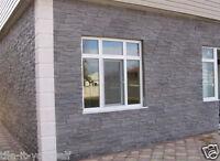 2 pcs. CONCRETE PAVING INTERLOCKING WALL CLADDING SLAB PLASTIC FLOOR MOULD