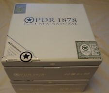 PDR WHITE ENAMEL Wooden Cigar Boxes Empty Lot of 2