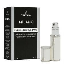 Travalo Milano – White white – Refill Perfume Atomizer – luxurious leatherette