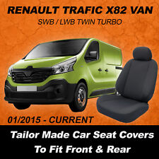 Canvas Car Seat Covers To Fit RENAULT TRAFIC X82 VAN  - 01/2015 - Current