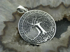 Kettenanhänger Baum des Lebens Silber 925 Lebensbaum Weltenbaum Medallion