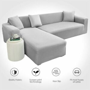 Solid Color Sofa Cover Stretch Couch Cover Corner Sofa Towel Furniture Covers