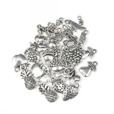 50pcs Mixed Antique Tibetan Silver Fruits Charm Pendant DIY Jewelry Making Craft