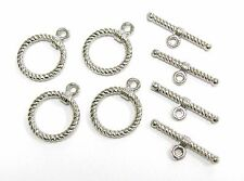 Metal Toggle Clasp Silver Color  18mm Rope New for DIY Jewelry making 10 sets