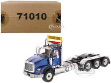 INTERNATIONAL HX620 DAY CAB TRIDEM TRACTOR BLUE 1/50 BY DIECAST MASTERS 71010