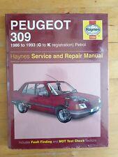 *NEW* Peugeot 309 Petrol Haynes Workshop Manual 1986-1993