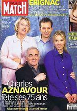 Couverture magazine,Coverage Paris-Match 03/06/99 Charles Aznavour