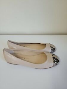 Milana size 37 euro 6 Aus Hope beige snake leather shoes ballet flat