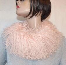 Schal Pelz Tibetlamm Boa Kragen Biggi Lammfell Lamb Fur Scarf Rosa Light Pink
