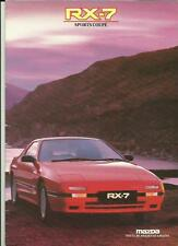 MAZDA RX-7 SPORTS COUPE SALES BROCHURE JULY 1987