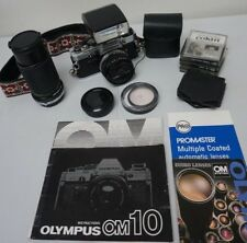 Olympus OM-10 Camera 35mm SLR  w/ 50mm & 80-200mm *See Condition