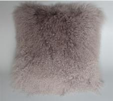 100% Real Mongolian Lamb Wool Cushion Cover Curly Fur Pillowcase 40X40cm