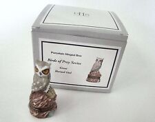 PHB Midwest of Cannon Falls Hinged Boxes  - BIRDS OF PREY Great Horned Owl