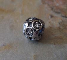 Edelstahl Bead Element Kugel Strass Fb Antiksilber Silber für Armband 1440